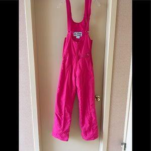 Hot pink ski bib
